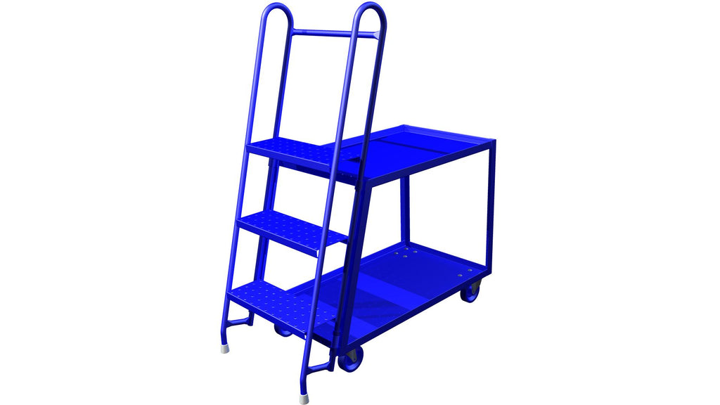 "Utility Cart - Canway Two-Shelf Stock Picker 24"" x 54"" x 60"" - Hansler.com"