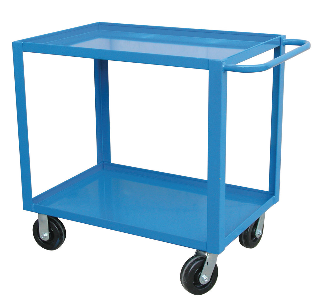 "Utility Cart - Canway Service Cart Extra Heavy Duty Two Shelf 24"" x 36"" - Hansler.com"