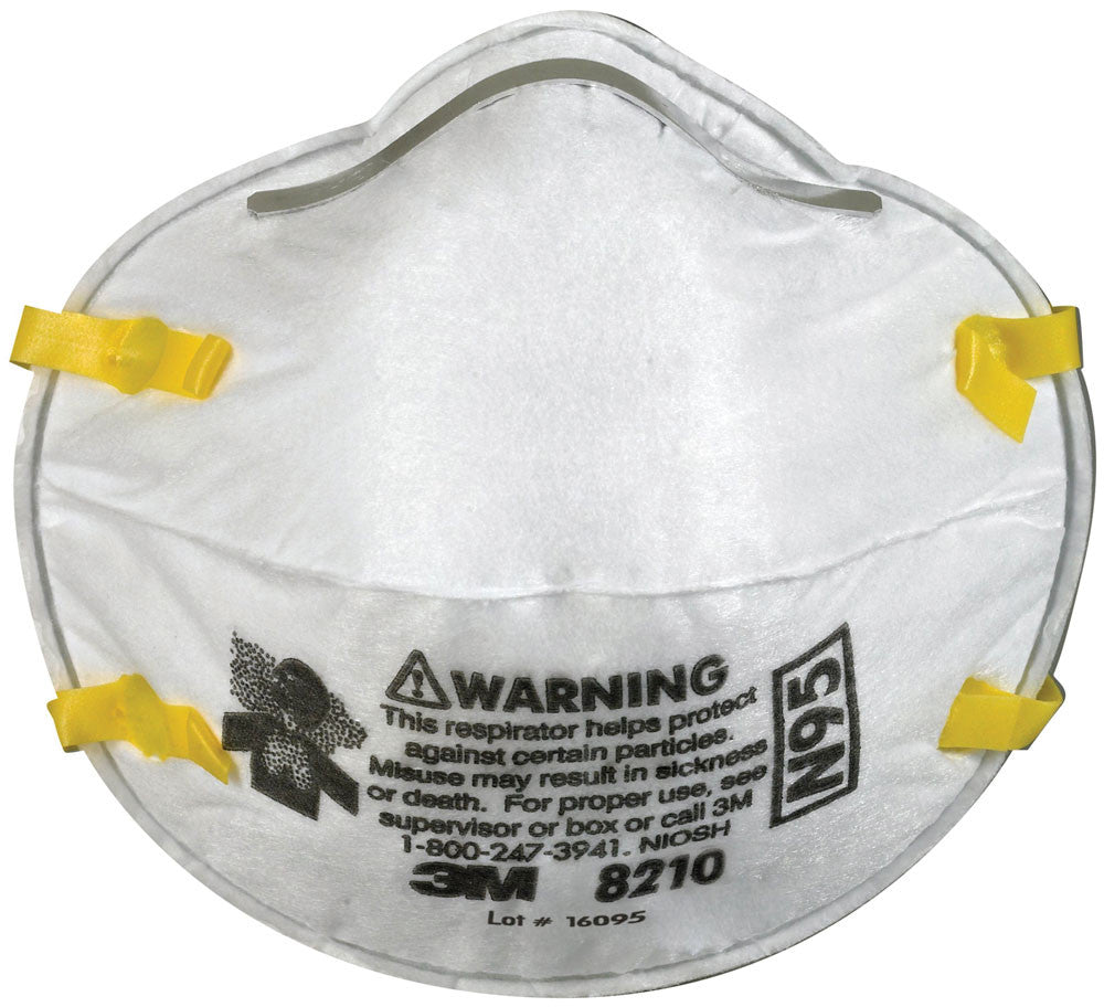 Particulate Respirator / Face Mask - 3M N95 (Box of 20) 8210 - Hansler.com