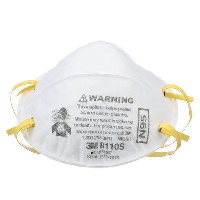 Particulate Respirator Face Mask - 3M Small Disposable 8110S, N95 - Hansler.com