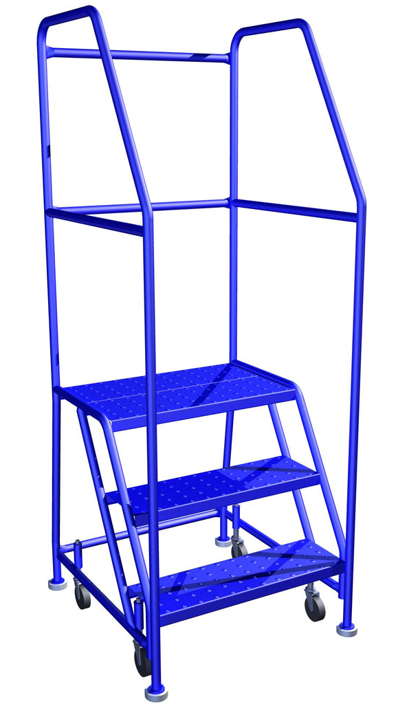 LADDER Mobile Ladder Stand 3 STEP CANWAY - Hansler.com