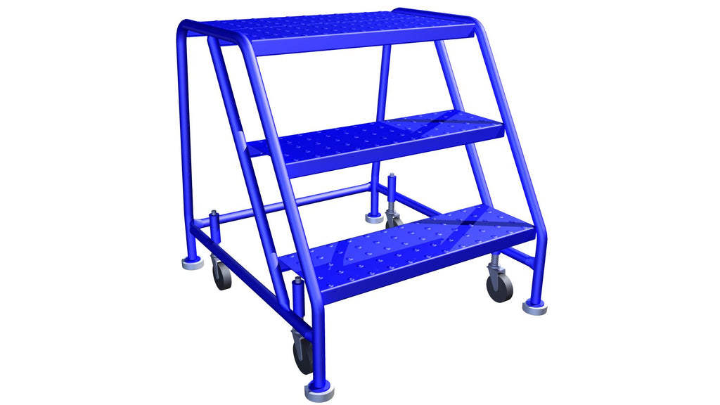 LADDER Mobile Ladder Stand -No handrail 3 STEP CANWAY - Hansler.com