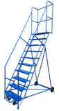 LADDER Mobile Ladder Stand 11 STEP CANWAY - Hansler.com