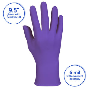 Glove - Disposable - Kimberly-Clark Professional Purple Nitrile Exam 6 Mil