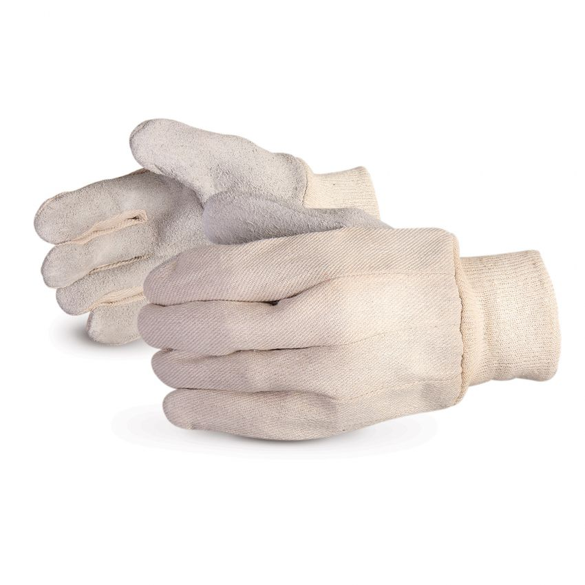 Glove - General Purpose - Superior Glove Endura® Leather Palm Gloves with Cotton Back, Large 650I - Hansler.com