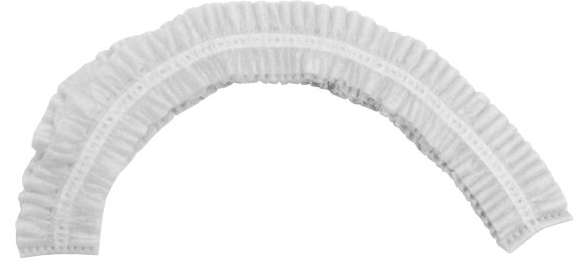 "Bouffant Cap - Ronco CARE™ White Pleated Bouffant 24"" 7024W - Hansler.com"
