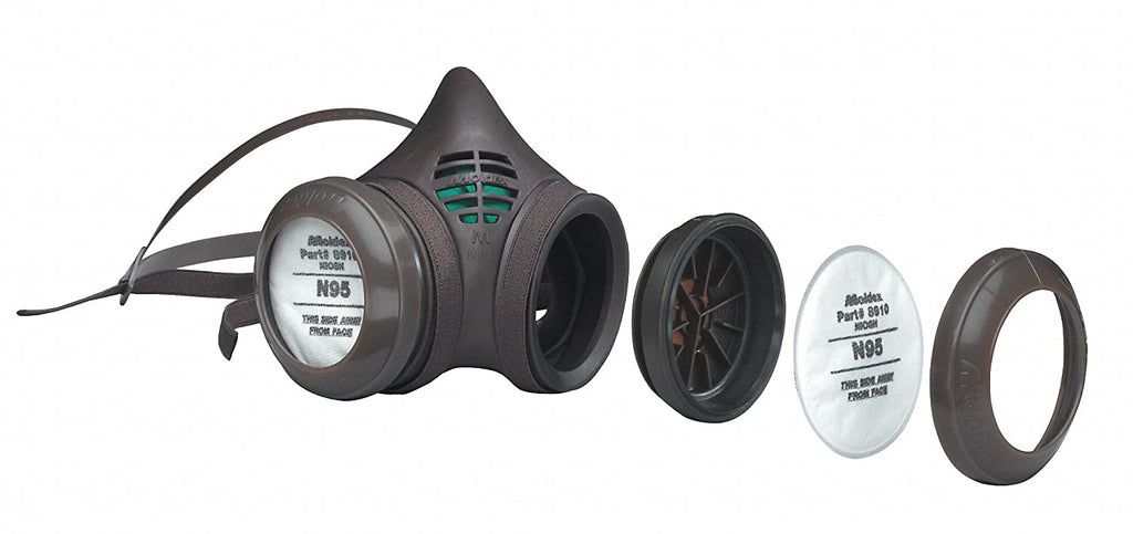 Respirator Mask, Filter & Filter Disk Holder - Moldex 8000 Series Reusable Half Mask, N95 Particulate Filter - Hansler.com