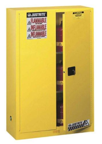 Safety Cabinet - Justrite Sure-Grip Flammable Yellow* - Hansler.com