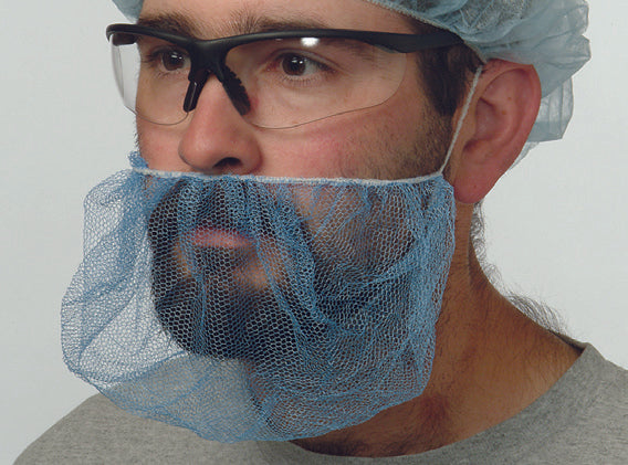 "Beard Cover - Superior Glove 18"" White BCPP - Hansler.com"