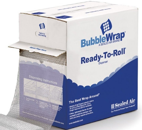 Bubble Wrap Roll - Sealed Air Bubble Medium Ready-To-Roll Dispenser* - Hansler.com