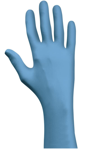 "Glove - Disposable - Showa Nitrile 4 Mil 9.5"" Powder-Free Blue 3005PF - Hansler.com"