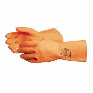 Glove - Chemical Resistant - Superior Glove Endura Latex Diamond Grip Style Flock Lining 30 Mil 408 - Hansler.com