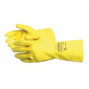 Glove - Chemical Resistant - Superior Glove Chemstop Embossed Grip Style Flocked Cotton Lining Pinked Cuff LF3020 - Hansler.com