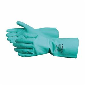Glove - Chemical Resistant - Superior Glove Chemstop Nitrile Embossed Grip Flock Lining 0.2 inch Thickness NIF3018 - Hansler.com
