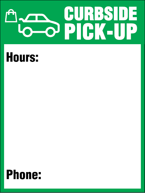 "Sign - Ketchum Curbside Pick-Up 24"" W X 32"" H - Hansler.com"