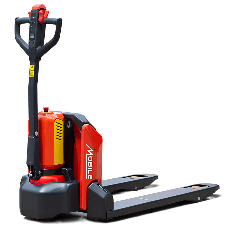 "Pallet Truck - Mobile Industries ECO EFET33N-LB Self-Propelled Electric Lithium Powered 27"" x 45.3"" - Hansler.com"