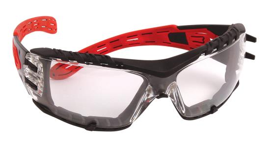 Protective Glasses - Dynamic Volcano Plus™ Rimless Red Temples Foam Padding & 4A Coating EP675G - Hansler.com