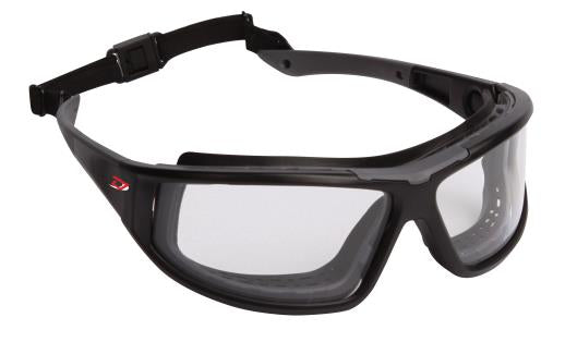 Protective Glasses - Dynamic Dyna-Seal Full Black Frame, Foam Padding and 4A Coating EPDGC18 - Hansler.com