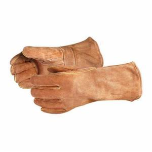 Glove - Welding - Superior Glove Endura MIG Kevlar Split Cowhide Leather Strapped Straight Thumb/1-Finger Mitt Style 505BS - Hansler.com