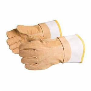 Glove - Specialty - Heat Resistant - Superior Glove Endura Leather/Kevlar Strapped Thumb Non Woven Felt Lining 500 deg F Maximum 685BFi - Hansler.com