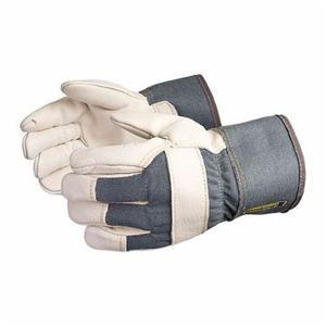 Glove - General Purpose - Superior Glove Endura Heavyweight Grain Cowhide Leather Laminated Foam Lining Safety Cuff 76BRF - Hansler.com