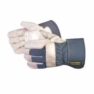 Glove - General Purpose - Superior Glove Endura Cotton/Grain Cowhide Leather Unlined Band Top/Safety Cuff 76BUL - Hansler.com