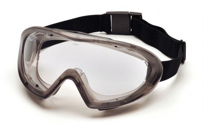 Protective Goggles - Pyramex Capstone Dual Lens Gray with Quick Release H2X Anti-Fog G504DT - Hansler.com
