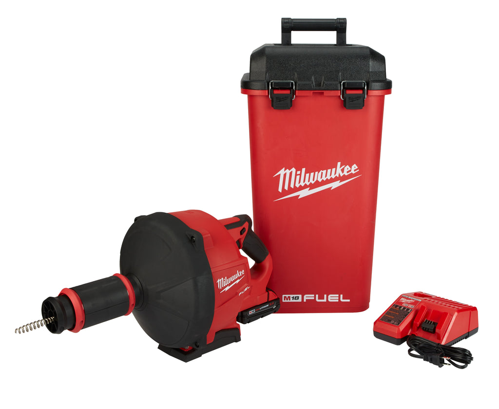 Drain Snake Kit - Milwaukee M18 FUEL™ w/ CABLE DRIVE™ 2772A-21 - Hansler.com