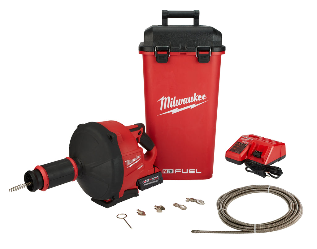 Drain Snake Kit - Milwaukee M18 FUEL™ w/ CABLE DRIVE™ 2772B-21XC - Hansler.com