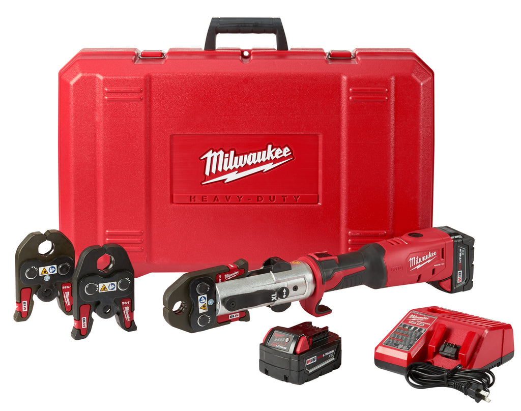 "Press Tool Kit - Milwaukee M18™ FORCE LOGIC™ Long Throw 1/2"" - 1"" 2773-22L - Hansler.com"