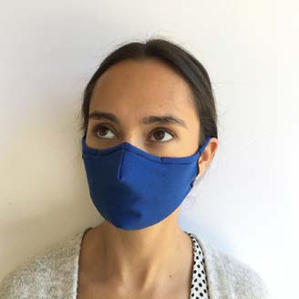 Face Mask - Impacto Reusable/Washable Fitted 2 Ply Double Layer Protection Blue FITMASK - Hansler.com