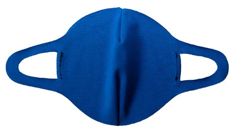 Face Mask - Impacto Reusable/Washable 1 Ply Single Layer Protection Blue 1PMASKS - Hansler.com