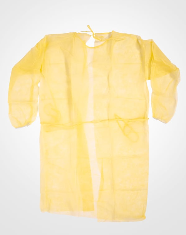 Isolation Gown - Yellow Single Use One Size Fits All 6075 - Hansler.com