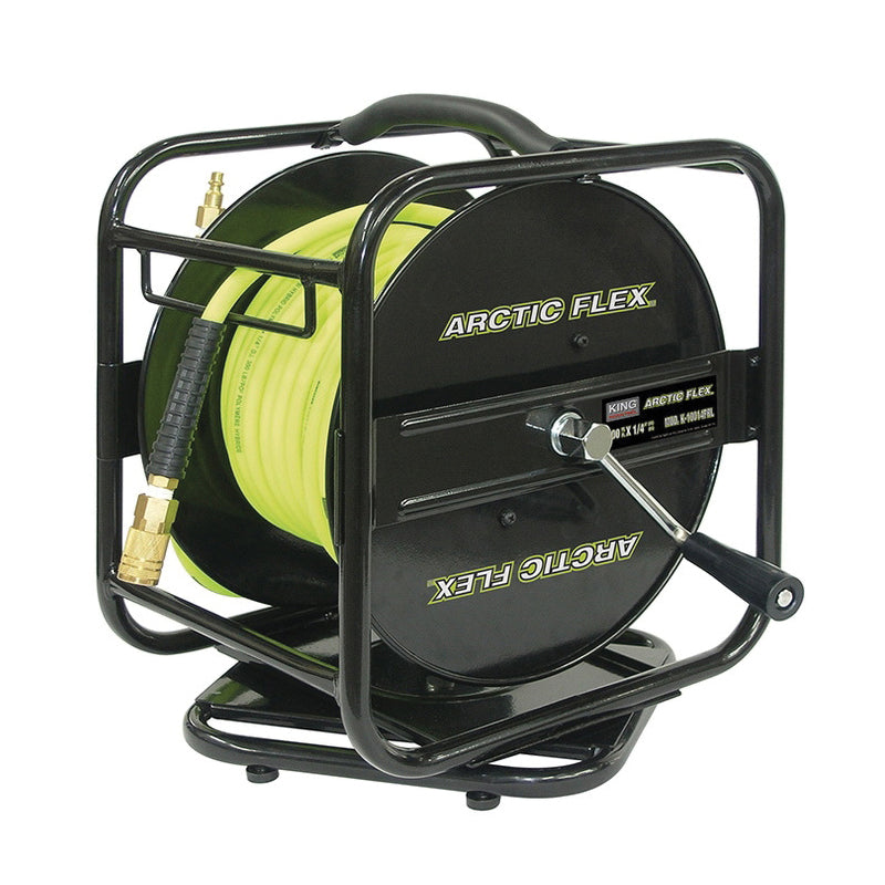 "Air Hose Reel - King Canada Industrial 1/4"" X 100ft Manual Air Hose Reel 10014FRL - Hansler.com"