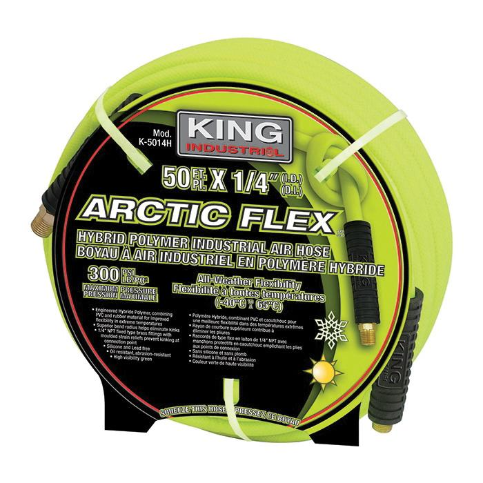 "Air Hose - King Canada Industrial 1/4"" Air Hose K-2514H/K-5014H/K-10014H - Hansler.com"