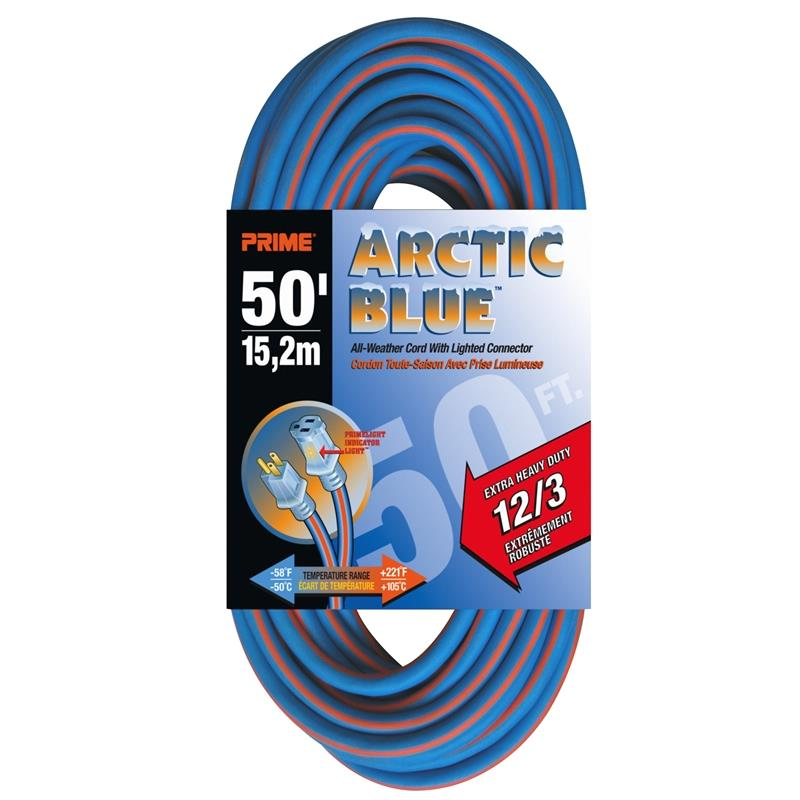Extension Power Cord - Extra Heavy Artic Blue All-Weather TPE* - Hansler.com