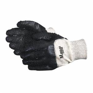 Glove - Chemical Resistant - Superior Glove Dexterity Universal Size PVC Palm & Coating 14 in Black 253/4K - Hansler.com