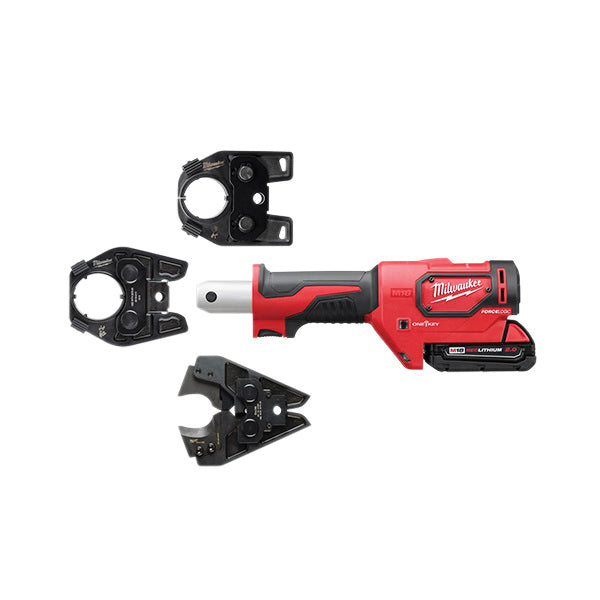 Crimper Kit - Milwaukee M18™ FORCE LOGIC™ 600 MCM Cu w/ 750 MCM Expanded Jaw 2679-750C - Hansler.com