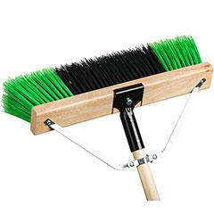 Broom - M2 Professional Ryno Stiff Garage Pushbroom, Complete Combo* - Hansler.com