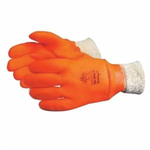 Glove - Chemical Resistant - Superior Glove North Sea Premium PVC Rough Grip Triple Foam Lining Knit Wrist Cuff NS300K - Hansler.com