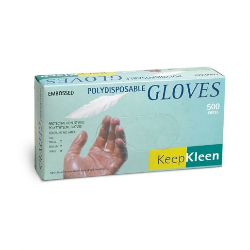 Glove - Disposable - Superior Glove KeepKleen Polyethylene Ambidextrous Embossed Pattern 2 Mil PD - Hansler.com