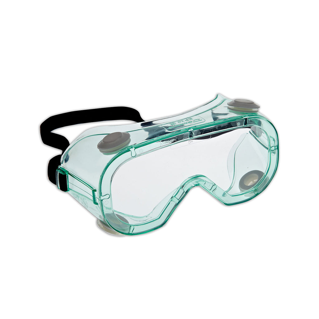 Protective Goggles - Dynamic Chem Splash™ Indirect Vent Clear Green Body, Clear Lens and 3A Coating EP20 - Hansler.com