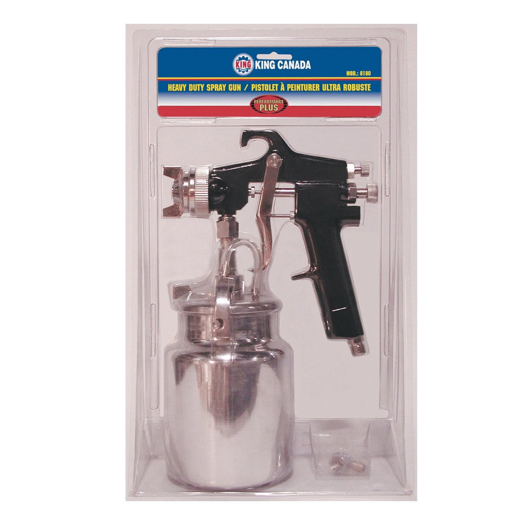 "Spray Gun - King Canada Performance Plus Heavy Duty 1/4"" NPS Inlet 1L Container 8180/8182 - Hansler.com"