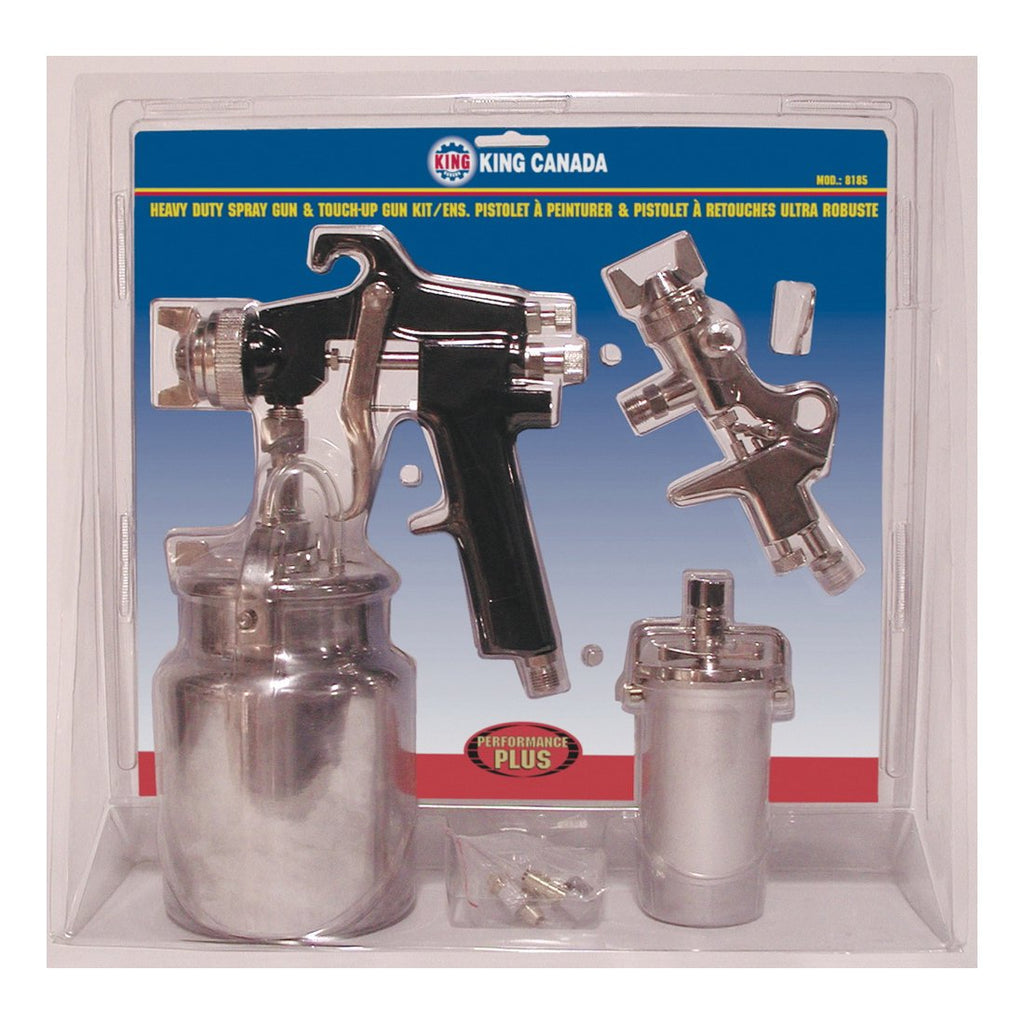 Spray Gun Kit - King Canada Performance Plus Spray Gun & Touch Up Gun Kit 8185 - Hansler.com