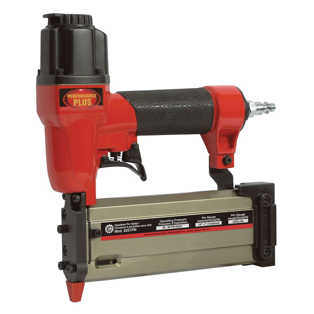 Nailer Kit - King Canada Performance Plus 23 ga. Headless Pin Nailer Kit 8251PN - Hansler.com