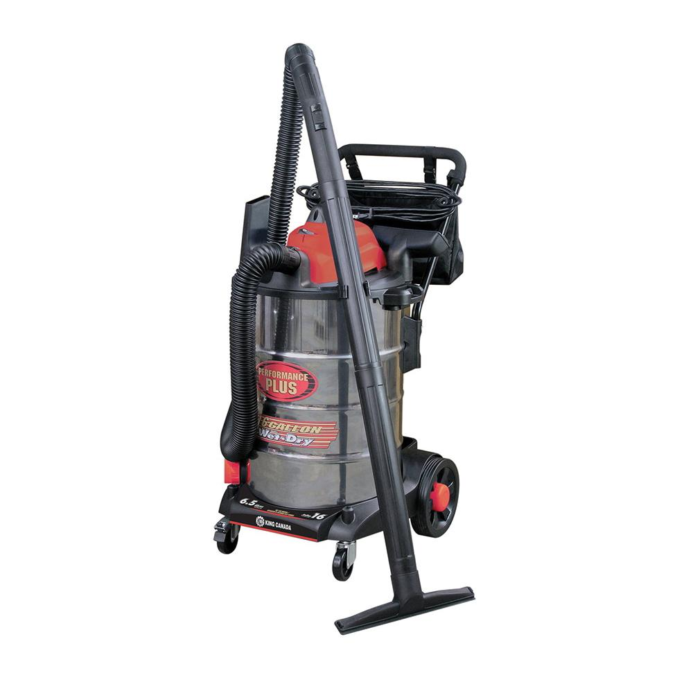 Wet-Dry Vacuum - King Canada Performance Plus 16 gal. Stainless Steel Tank 300 W/6-1/2 hp Power 8560LST - Hansler.com