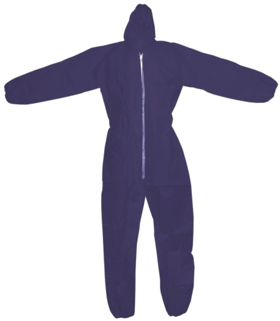 Coveralls - Ronco CoverMe Polypropylene With Hood, Zipper, Elastic Wrist & Ankle 44-145 - Hansler.com