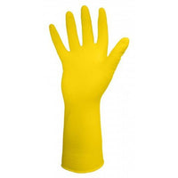 Glove - Chemical Resistant - Ronco Reusable Light-Fit Latex Flocklined Yellow 15-332 - Hansler.com