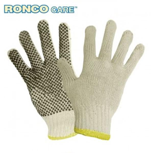 Glove - String Knit - Ronco Poly/Cotton with PVC Dots on One Side* - Hansler.com