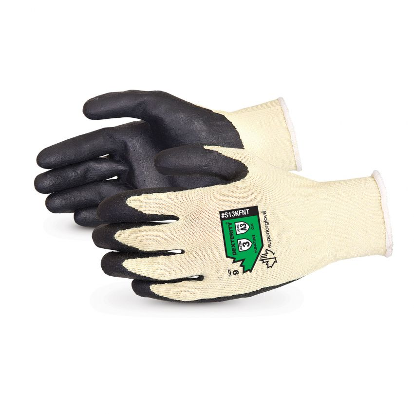 Glove - Cut Resistant - Superior Glove Dexterity® Kevlar®/Composite String Knit with Nitrile Palms - Hansler.com